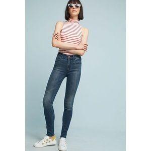 Anthropologie Pilcro Jeans High Rise Skinny Dark